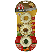8in1 Delights Rings  Лакомство для собак — колечки с мясом