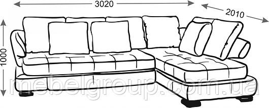 Кутовий диван Консул 302*201см., фото 3