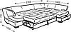 Кутовий диван Консул 302*201см., фото 2