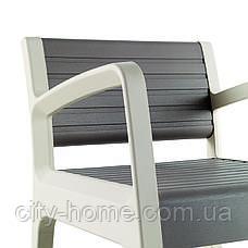 Комплект пластиковой мебели Miami бежевый, фото 3