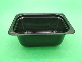 Соусник пластиковый черный  ПС-190 (100мл) уп/50 штук