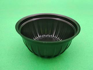 Соусник черный пластиковый  ПС-390 (50мл) Ф66 h30 уп/105 штук