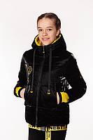 Весенняя куртка с модным поясом на бедрах для девочки 38-44 р
