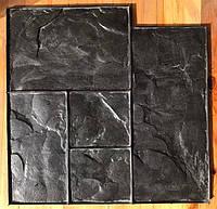 "Полиуретановый штамп ""Тёсаный камень №1"" для печати по бетону 580*580 мм"