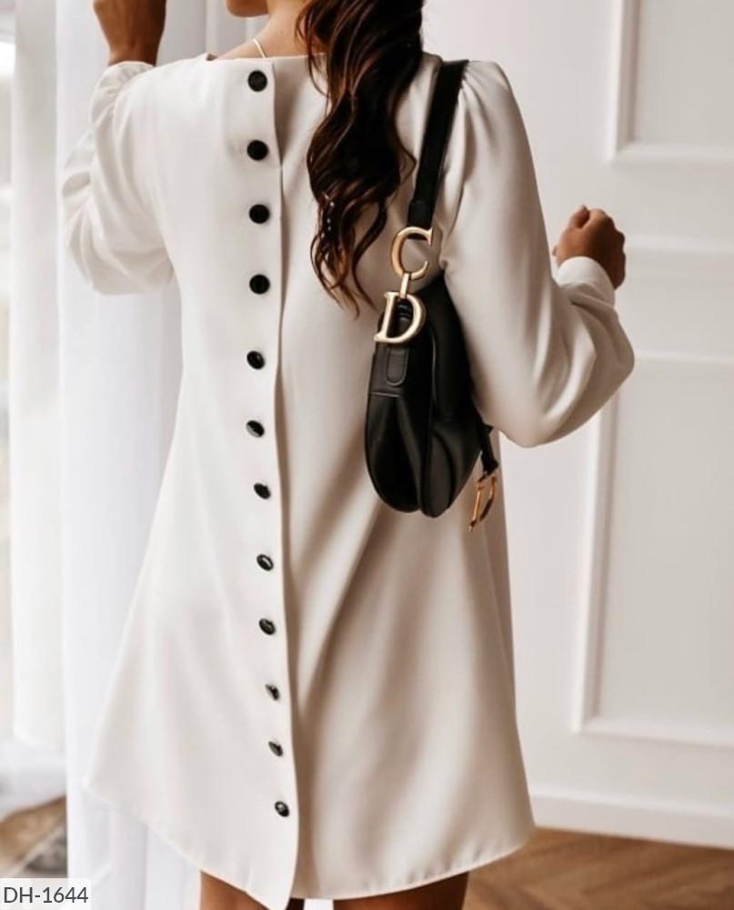 Платье женское весеннее стильное с пуговицами на спине размеры  42 44 46 новинка 2020 есть цвета