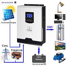 Гибридный ИБП 2000 Ватт 24В Инвертор + солнечный контроллер 50А - ISPWM 2000 AXIOMA energy