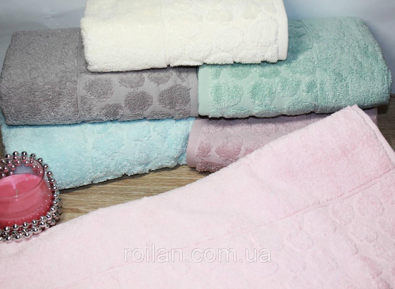Лицевые турецкие полотенца Кружочки