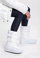 Сапоги дутики женские белые зимние код С903