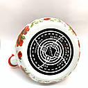 Эмалированный чайник со свистком Hoffner 4931 Grey Flowers 2,2 литра, фото 2