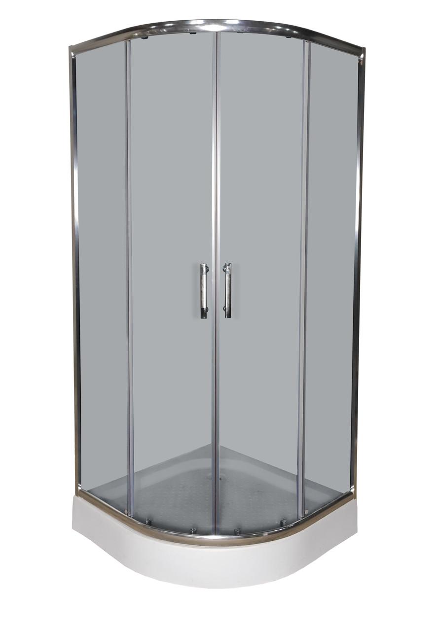Душова кабіна 091/6 KT Gray 90х90 дрібний піддон