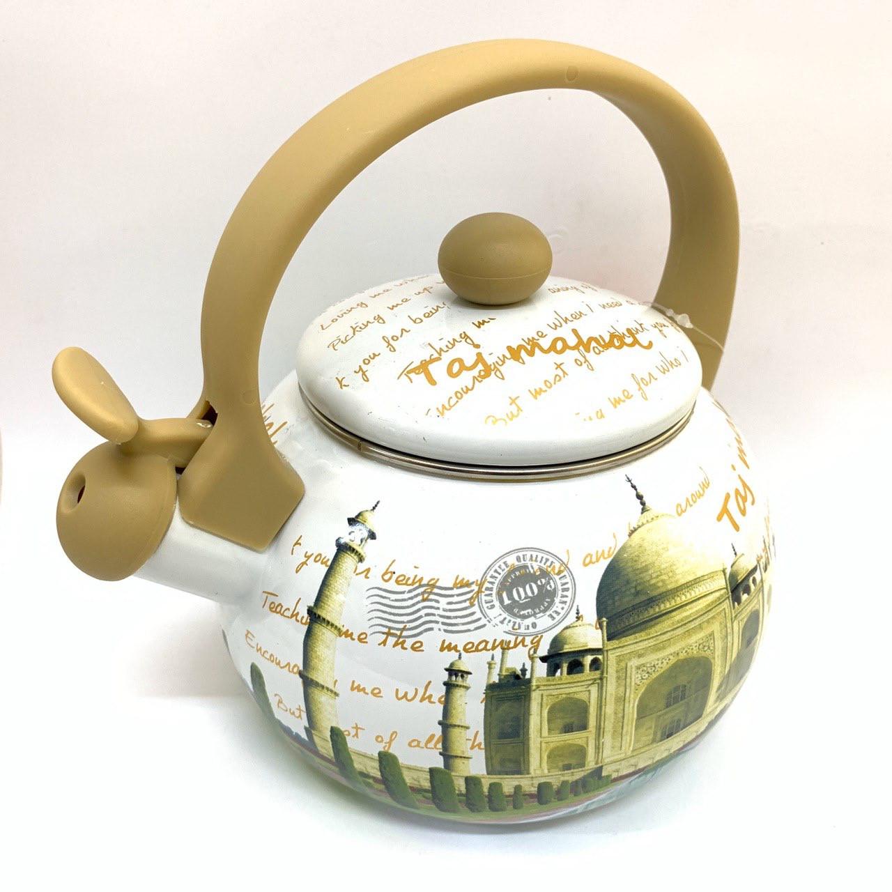 Эмалированный чайник со свистком Hoffner 4931 Taj Mahal 2,2 литра