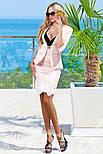 Элегантный юбочный костюм в деловом стиле светло-розовый, фото 4