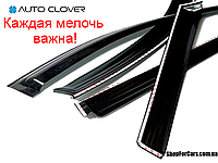Дефлекторы окон Hyundai Santa Fe 2013- 4шт Auto Clover Ветровики хундай сантафе автокловер