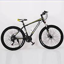 Гірський спортивний велосипед S200 HAMMER чорно жовтий 26 дюймів