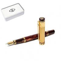 Ручка перьевая в футляре DUKE M-GM14K 137 мм коричнево-золотая ЗОЛОТАЯ МЕДАЛЬ