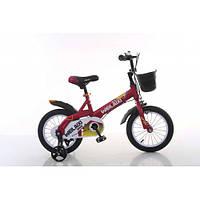 Детский двухколесный велосипед Weilaixe 876  (на рост от 105 см) 14 дюймов малиновый