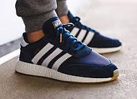 Мужские кроссовки Adidas Iniki Runner Blue, синие. Код товара : KS 405