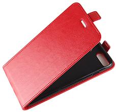Кожаный чехол флип для iPhone 6 6S красный