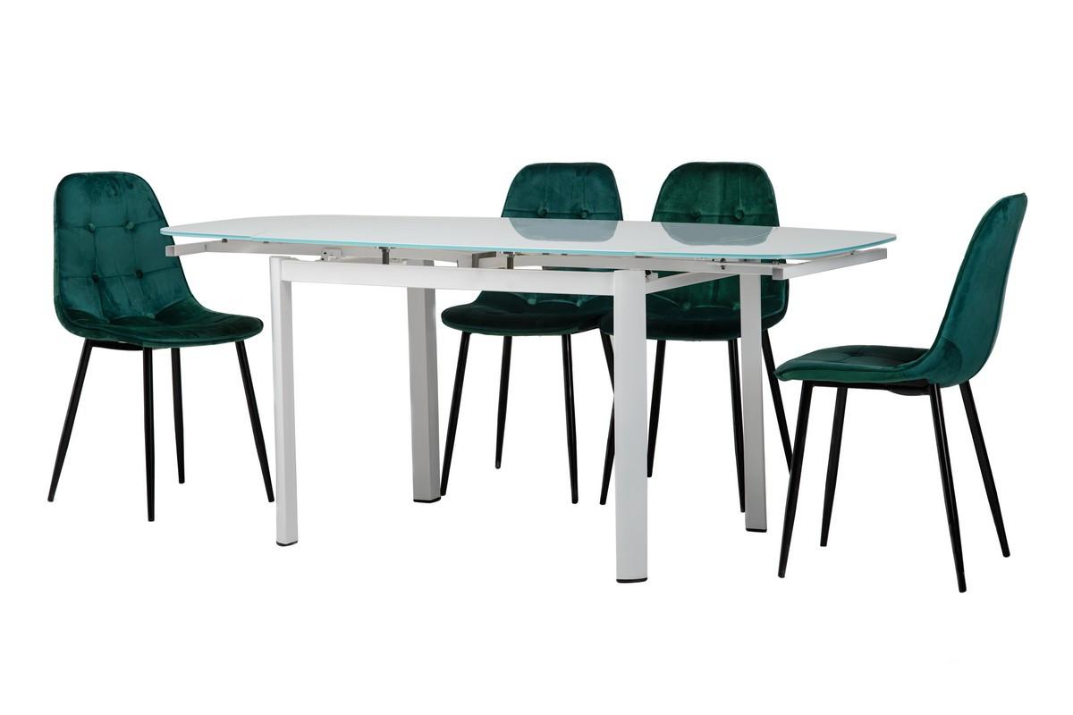 Обеденный стол T-600 снежно-белый