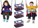 Гойдалка подвійна на гнучких підвісах для дитячих ігрових майданчиків KidSport, фото 4