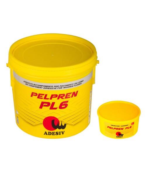 Полиуретановый паркетный клей Pelpren PL6 (10кг) Двухкомпонентный клей для паркета  Adesiv (Адезив, Италия)