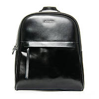 Женский рюкзак - сумка из плотной натуральной кожи черный (32*28*12см) ALEX RAI, 1-06 8694-2 black