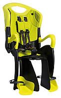 Сиденье заднее Bellelli Tiger Standart B-fix до 22кг HI Vision, Чёрно-салатовый