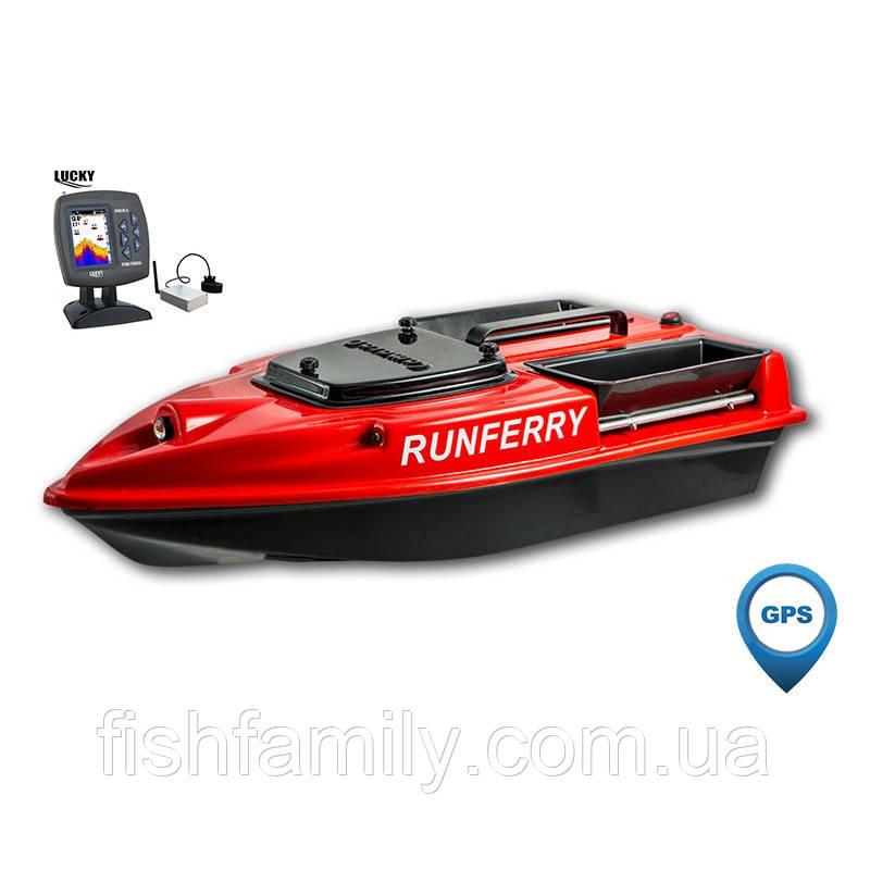 Карповый кораблик для прикормки Camarad с эхолотом Lucky 918 и GPS автопилотом