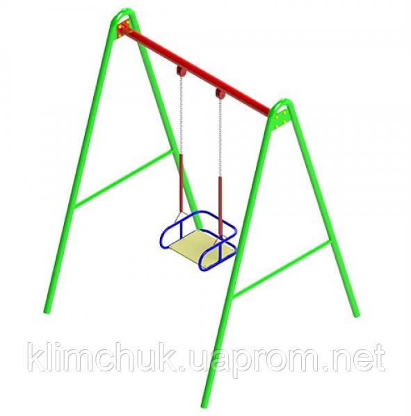 Гойдалка одинарна на гнучких підвісах для дитячих ігрових майданчиків KidSport