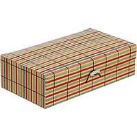 Сундук для украшений Полоски бамбук 22x12.5 см