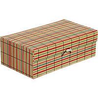 Сундук для украшений Полоски бамбук 25x14.5 см