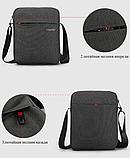Чоловіча сумка-месенджер Високоякісна водонепроникна сумка на плече для жінок і чоловіків, фото 3