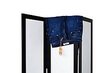 Ширма ДекоДім Економ на 3 секції 180х200 см, чорно-біла (DK11-21), фото 3
