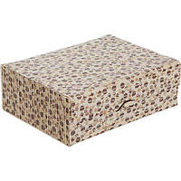 Сундук для украшений Цветочки бамбук 21x16.5 см