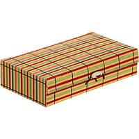 Сундук для украшений Полоски бамбук 18x10 см