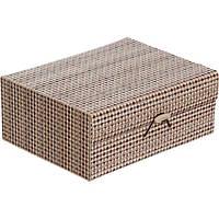 Сундук для украшений Ромбы бамбук 18x14.5 см