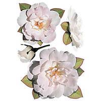 Декоративная наклейка Розы белые 49x70 см