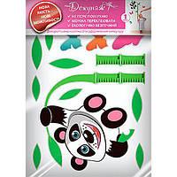 Декоративная наклейка ростомер Панда