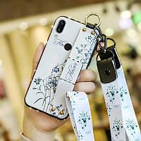 Чехол Lanyard для Xiaomi Mi Play бампер с ремешком White