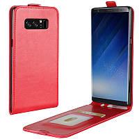 Чехол IETP для Samsung Galaxy Note 8 / N950 флип вертикальный кожа PU красный, фото 1