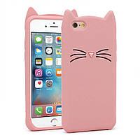 Чехол 3D Toy для iPhone 6 Plus / 6s Plus Бампер резиновый Cat Pink, фото 1