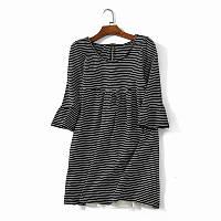 Платье трикотажное в полоску с воланами 44 размер
