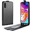 Чехол IETP для Samsung Galaxy A30S / A307 флип вертикальный PU черный