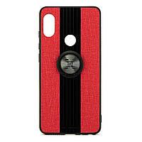 Чехол X-Line для Xiaomi Mi Max 3 бампер накладка с подставкой Red, фото 1