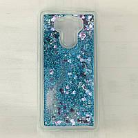 Чехол Glitter для Xiaomi Redmi 4 Prime / Redmi 4 Pro / 3/32 бампер Жидкий блеск Синий