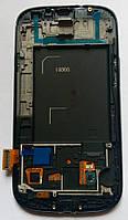 Дисплей модуль Samsung i9300 S3 GT-i9300 в зборі з тачскріном, чорний, з рамкою