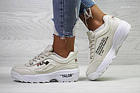 Женские кроссовки  Fila, белые. Код товара: Д - 6146