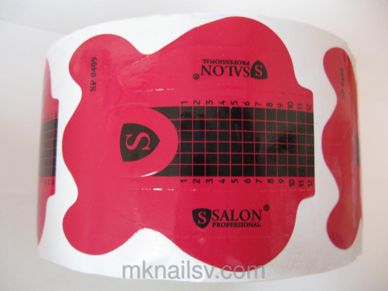Формы Salon Professional ,формы для наращивания ногтей,по акриловой или гелевой технологиях,500 шт.