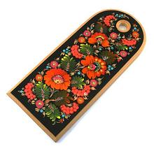 Доска разделочная деревянная расписная в украинском стиле