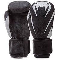 Перчатки боксерские кожаные на липучке Venum  (р-р 10-14oz, цвета в ассортименте)